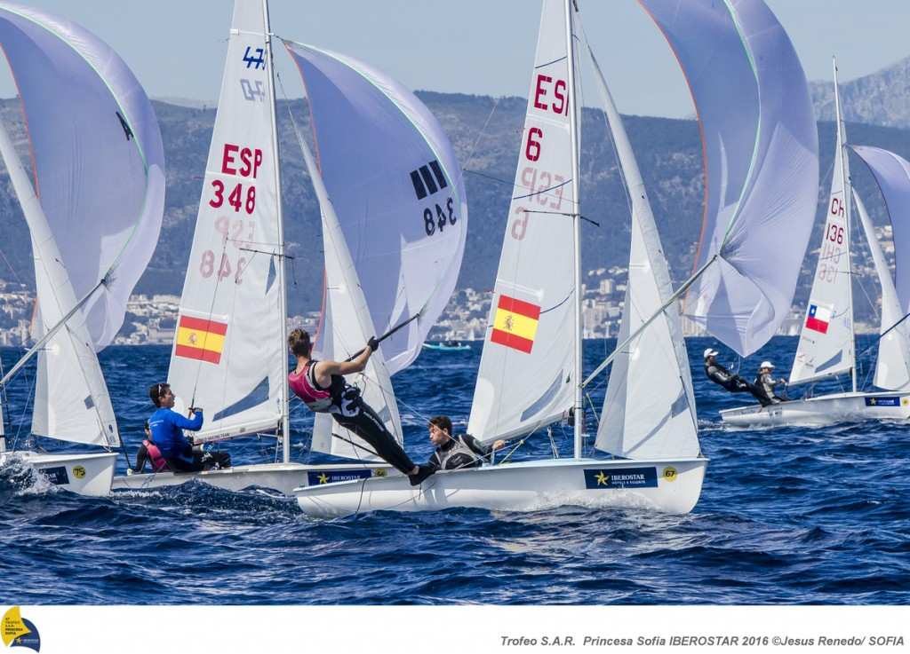 47 Trofeo Princesa Sofia IBEROSTAR, bay of Palma, Mallorca, Spain, takes place from 25th March to 2nd April 2016. Qualifier event for the Rio 2016 Olympic Games. Almost 800 boats and over 1.000 sailors from to 65 nations ©Jesús Renedo/Trofeo Sofia