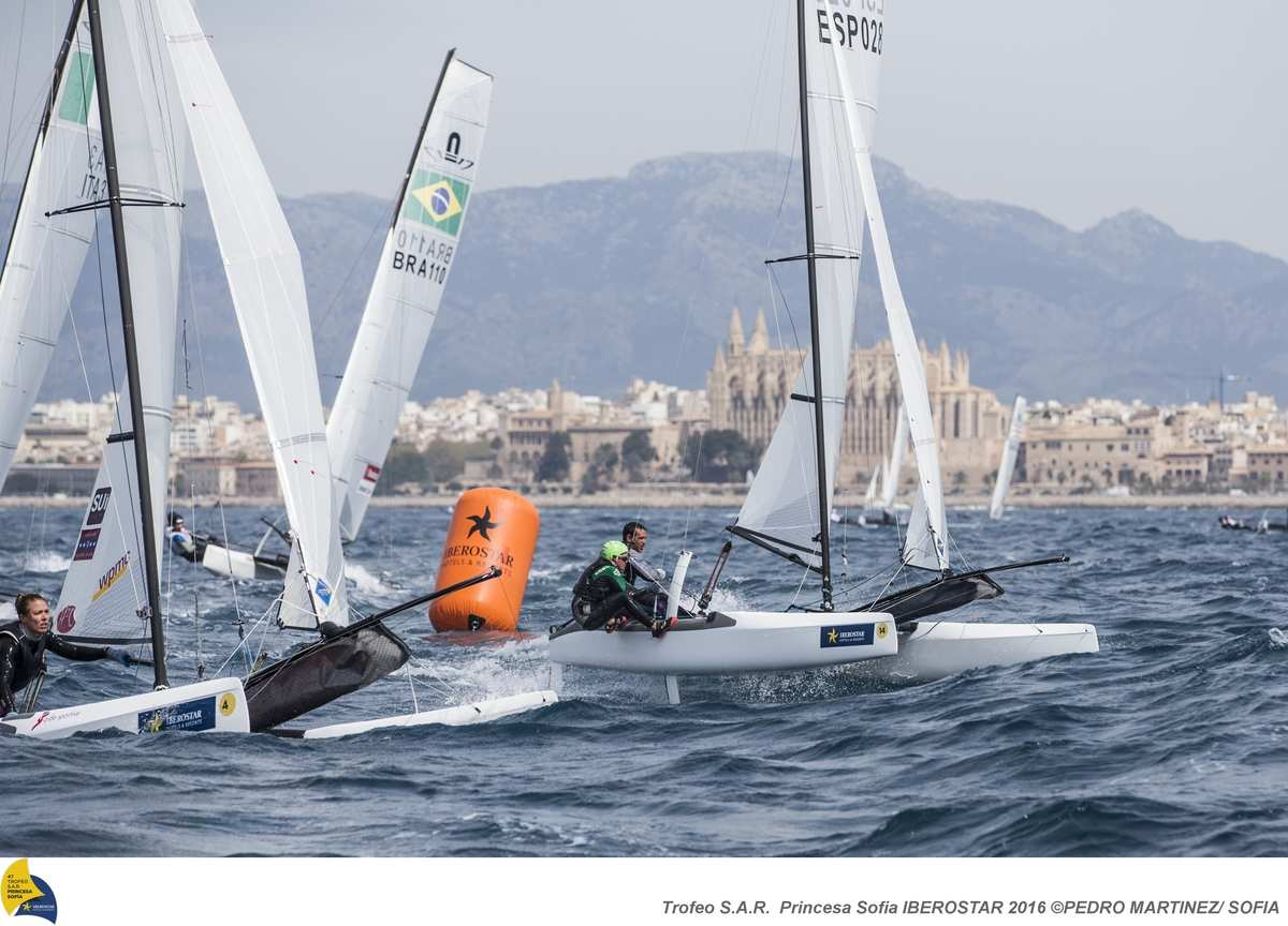 47 Trofeo Princesa Sofia IBEROSTAR, bay of Palma, Mallorca, Spain, takes place from 25th March to 2nd April 2016. Qualifier event for the Rio 2016 Olympic Games. Almost 800 boats and over 1.000 sailors from to 65 nations ©Pedro Martinez/Trofeo Sofia