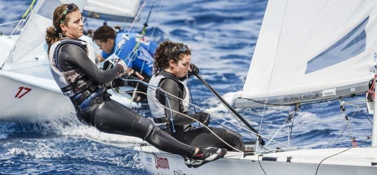 2016 470 European Championship, Bay of Palma, Mallorca, Spain, 5-12 April 2016.  Featuring over 250 of the world's best 470 Men and Women Olympic Class sailors representing 33 nations.  ©Bernardí Bibiloni/CNA